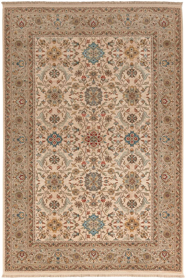 Ivory, Light Grey, Taupe (00990-14608) Traditional / Oriental Area Rug