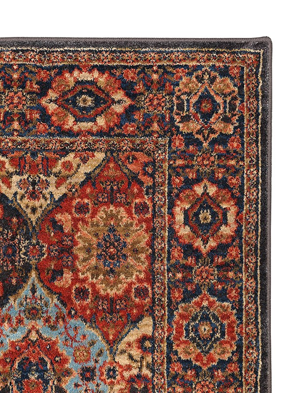 Red, Blue (90669-90097) Moroccan Area Rug