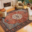 Product Image of Blue, Red (90661-90097) Traditional / Oriental Area Rug
