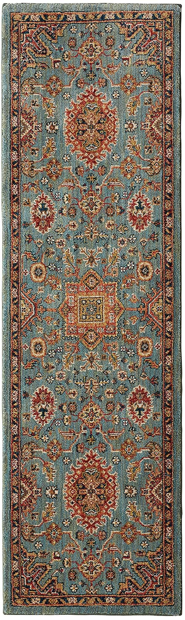 Aquamarine, Red (90665-50123) Traditional / Oriental Area Rug