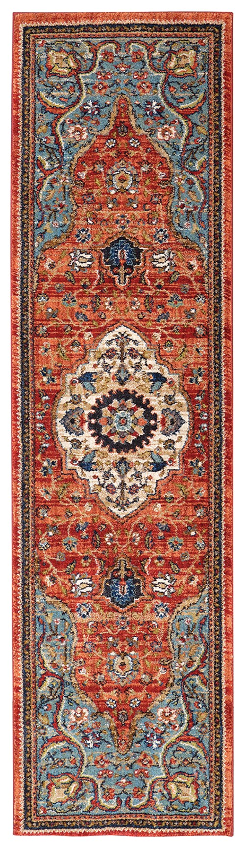 Blue, Red (90661-90097) Traditional / Oriental Area Rug