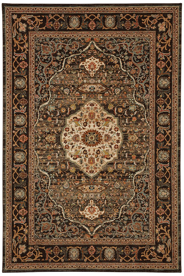 Charcoal (90661-09097) Traditional / Oriental Area Rug