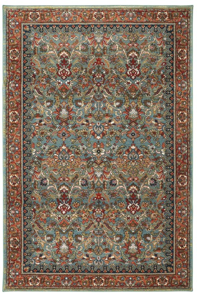 Aquamarine, Red (90662-50123) Traditional / Oriental Area Rug