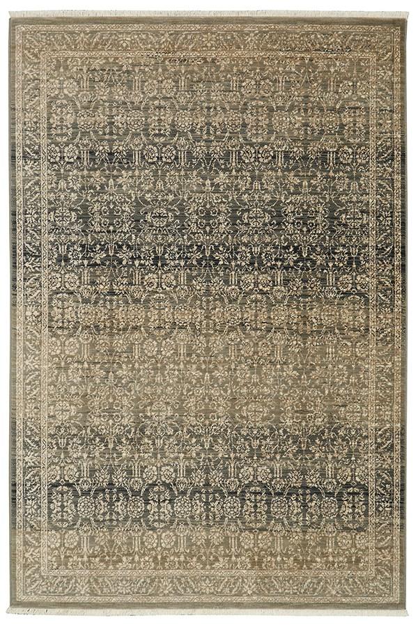 Gray, Silver, Tobacco (16001) Traditional / Oriental Area Rug