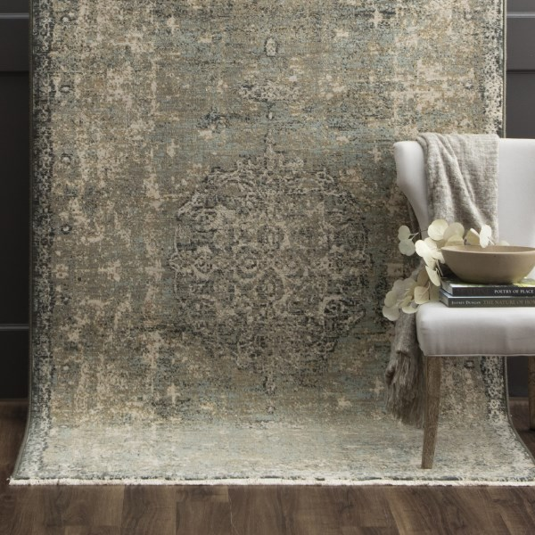 Seagrass (39400-16014) Vintage / Overdyed Area Rug