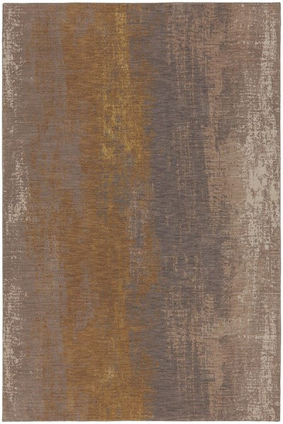 Smokey Grey, Desert, Brushed Gold (90965-20047) Abstract Area Rug