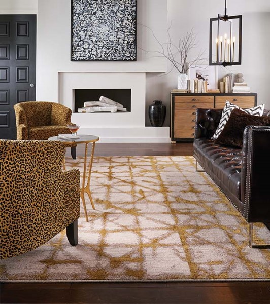 Brushed Gold (90969-00918) Contemporary / Modern Area Rug