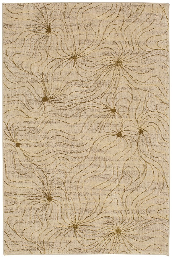 Antique White, Linen, Mushroom (91421-20047) Contemporary / Modern Area Rug