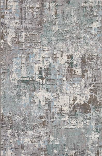 Green, Grey, Ivory (60138) Contemporary / Modern Area Rug