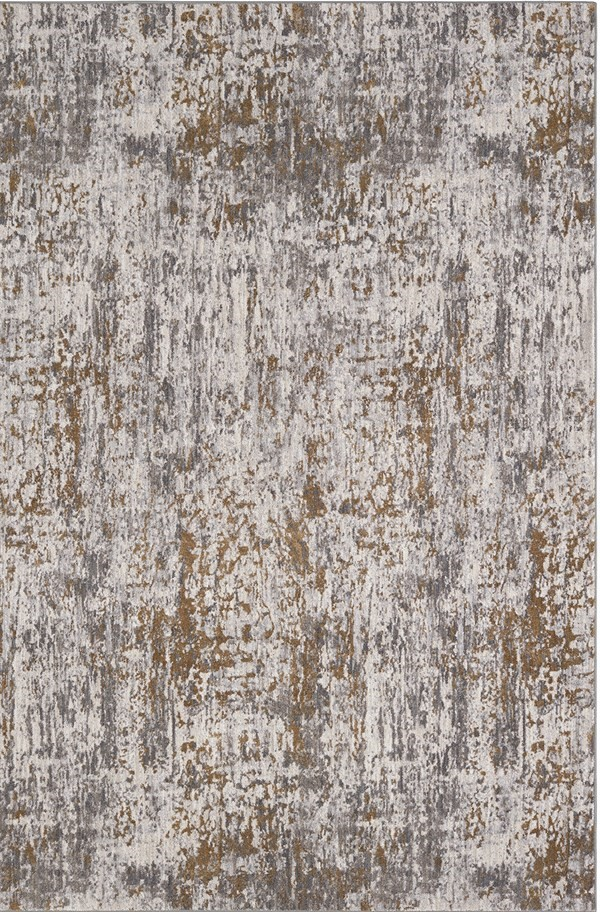 Gold, Grey, Ivory (10037) Contemporary / Modern Area Rug