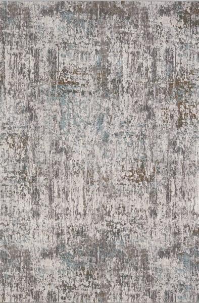 Green, Grey, Ivory (60128) Contemporary / Modern Area Rug