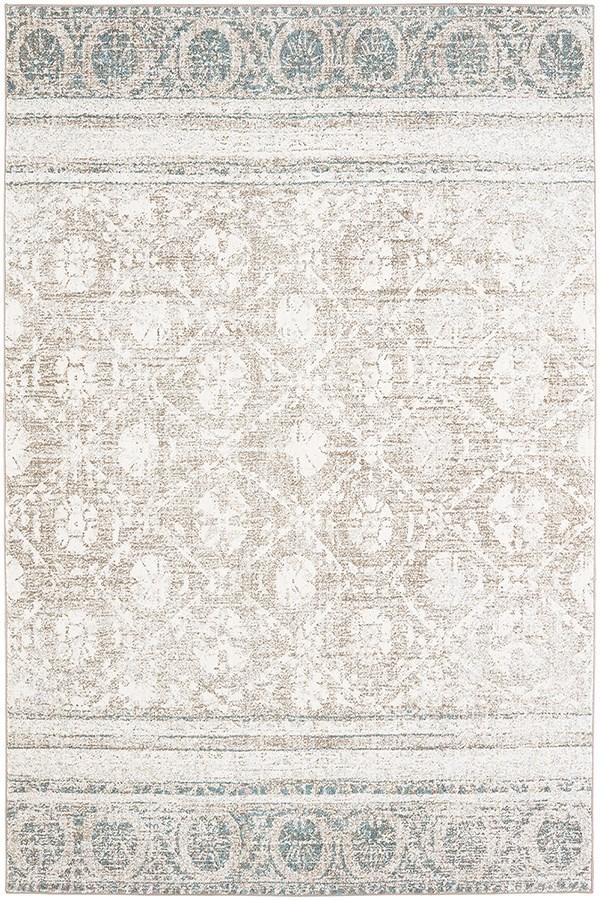 White, Hazelnut, Willow Grey (91232-80174) Vintage / Overdyed Area Rug