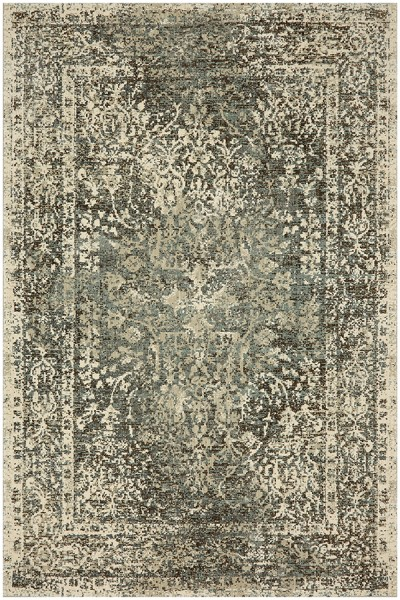 Jadeite, Grey, White (90947-70031) Vintage / Overdyed Area Rug