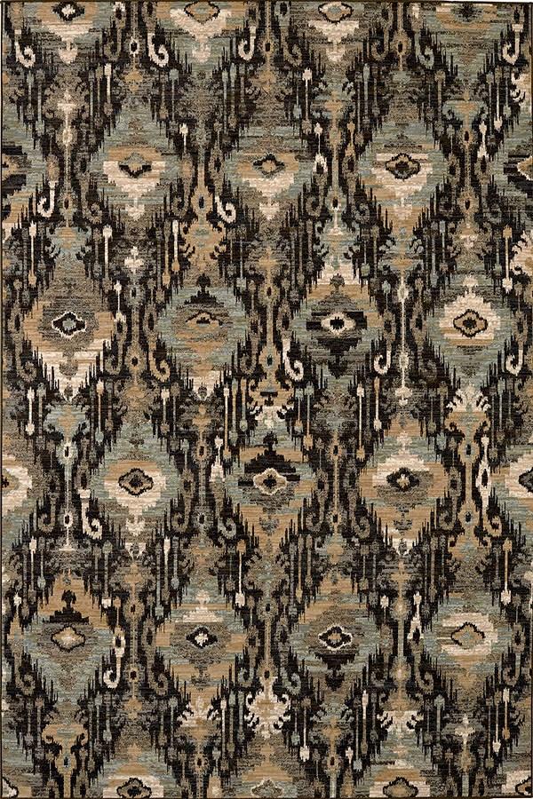 Charcoal, Denim, Ivory (39478-22003) Ikat Area Rug