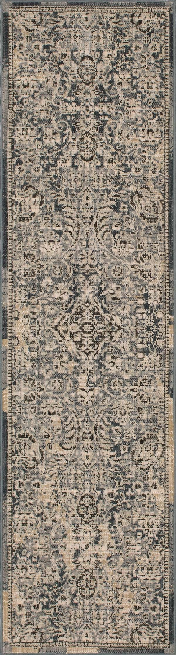 Denim, Ivory, Charcoal (39478-22005) Vintage / Overdyed Area Rug