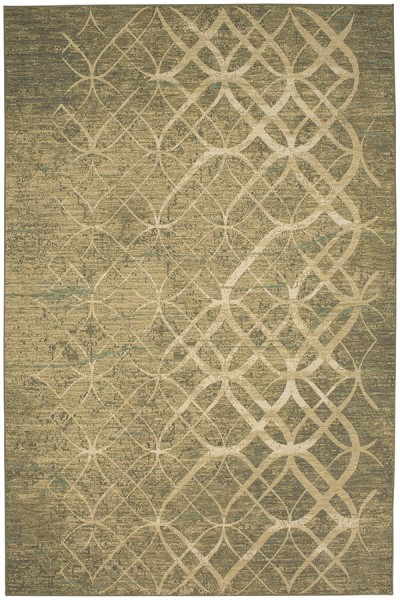 Charcoal, Ivory, Seaglass (39478-22016) Contemporary / Modern Area Rug