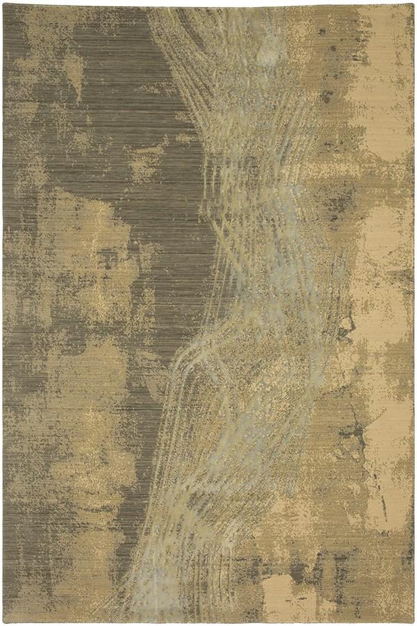Cream, Silver, Tan, Grey (RG968-5055) Abstract Area Rug