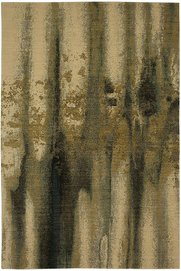 Cream, Grey, Charcoal, Gold (RG968-5066) Abstract Area Rug