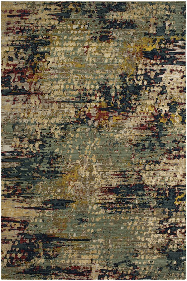 Sage, Tan, Olive (RG968-5058) Abstract Area Rug