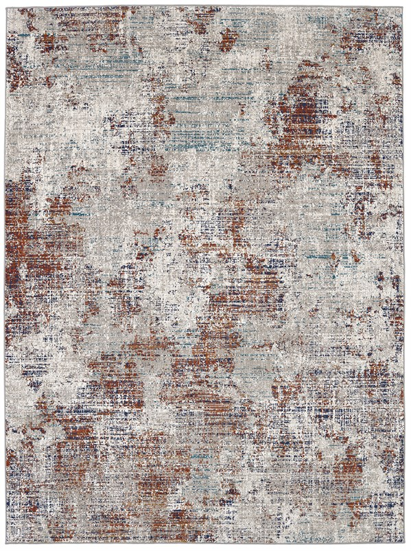 Ginger, Oyster, Lapis (25015) Abstract Area Rug