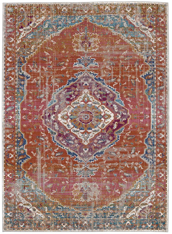 Curry, Hibiscus, Grey (25001) Traditional / Oriental Area Rug