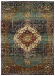 Product Image of Traditional / Oriental Peacock, Fuscia, Oyster (25002) Area Rug