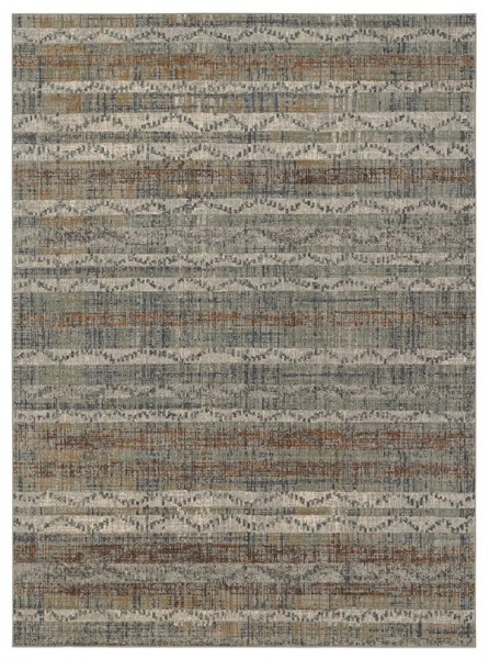 Denim, Taupe, Rust Transitional Area Rug