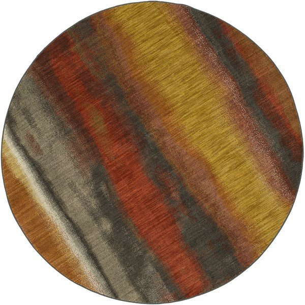 Grey, Gold, Spice Abstract Area Rug