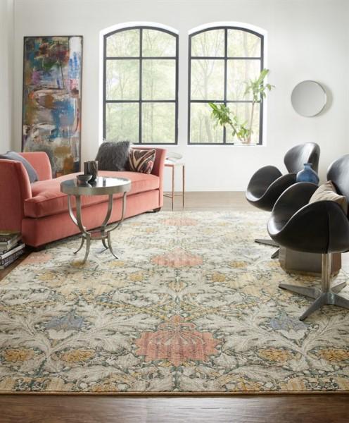 Taupe, Beige, Rose (Emerald) Contemporary / Modern Area Rug