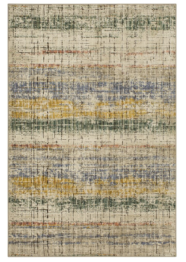 Beige, Gold, Green (Multi) Transitional Area Rug