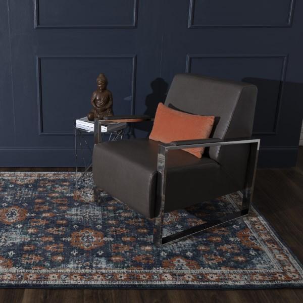 Blue, Spice (Indigo) Contemporary / Modern Area Rug