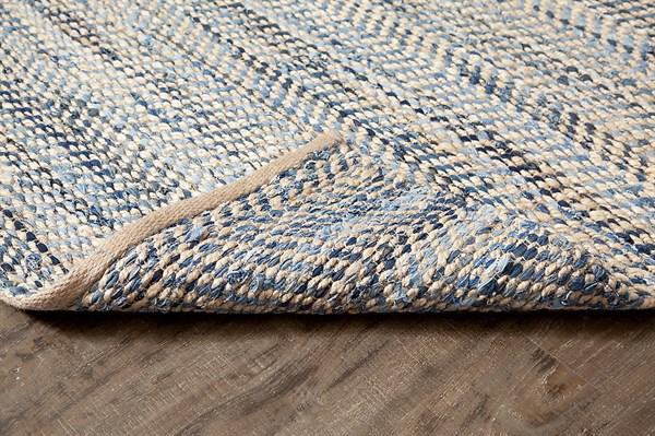 Tan, Gold, Blue (AMB0371) Rustic / Farmhouse Area Rug