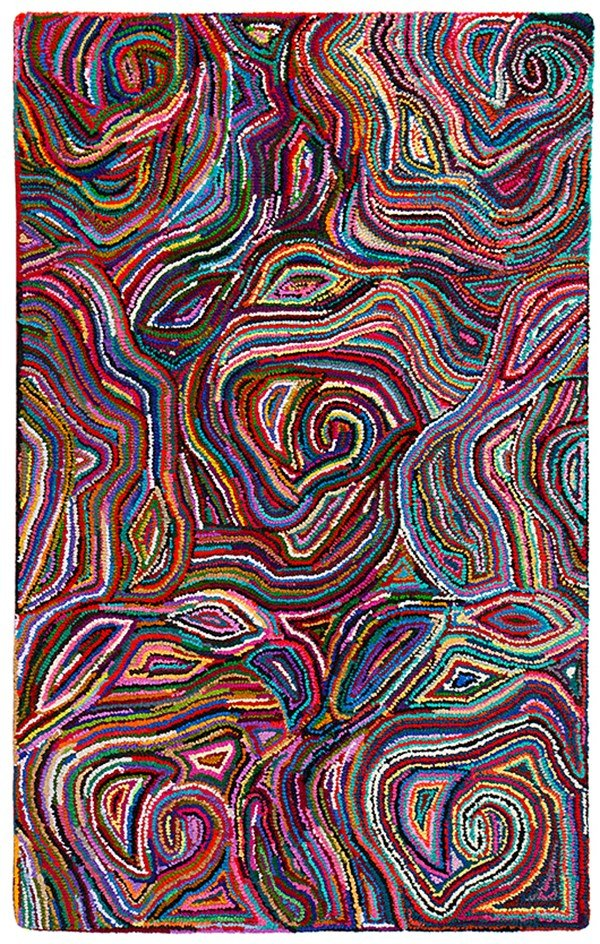 Red, Pink, Blue, Green (AMB-1013) Contemporary / Modern Area Rug