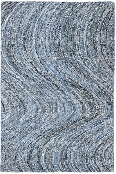 Blue, White (AMB-1115) Contemporary / Modern Area Rug