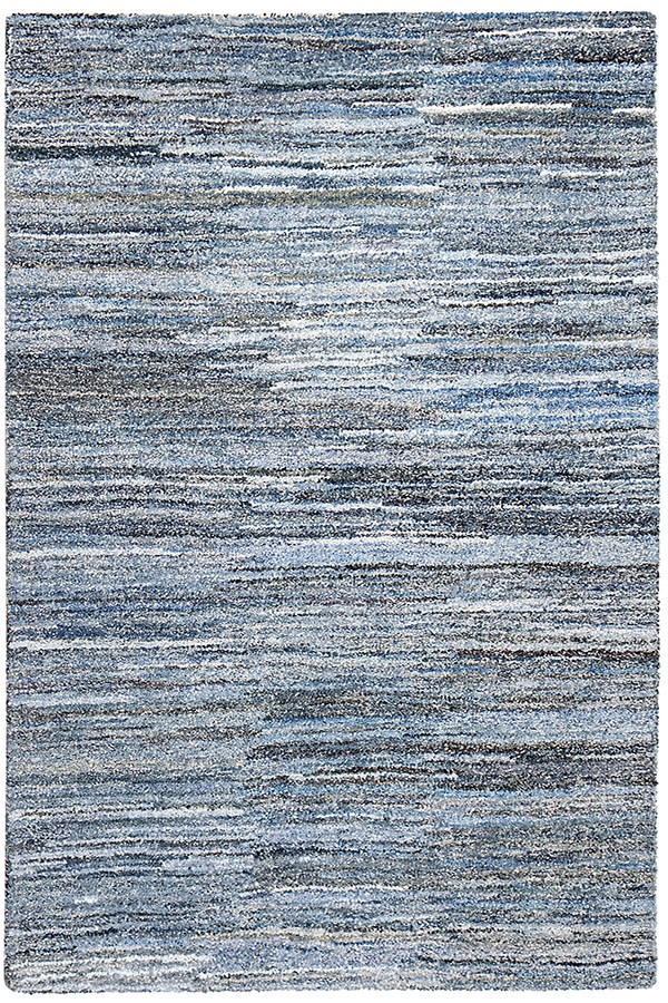 Blue, White (AMB-1116) Contemporary / Modern Area Rug