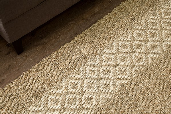 Ivory, Tan (AMB-0359) Casual Area Rug