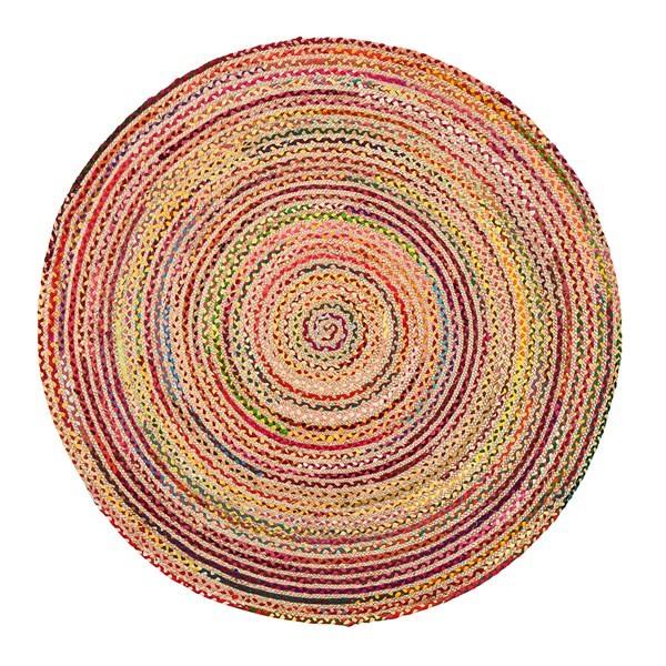 Tan, Red, Yellow Bohemian Area Rug