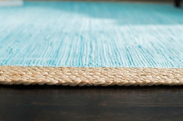 Blue Natural Fiber Area Rug