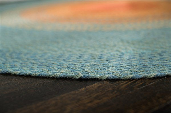 Blue, Orange, Red Bohemian Area Rug
