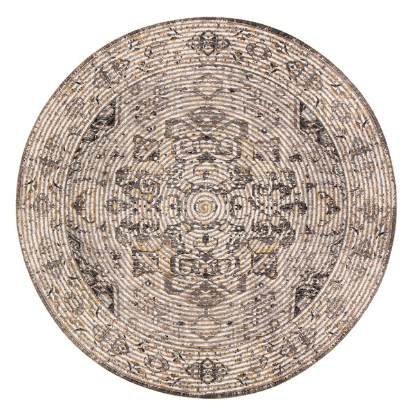 Brown, Grey Traditional / Oriental Area Rug
