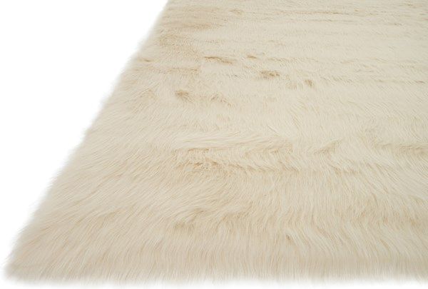 Bone Shag Area Rug