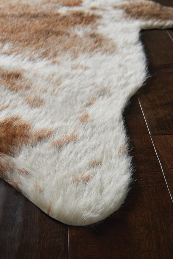 Coffee, Ivory Animals / Animal Skins Area Rug