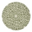 Product Image of Green, Ivory Moroccan Area Rug