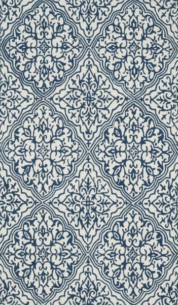 Ivory, Blue Transitional Area Rug