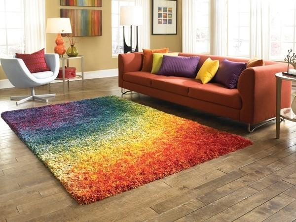 Rainbow Contemporary / Modern Area Rug