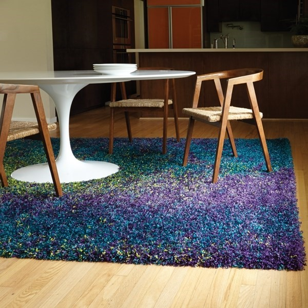 Peacock, Lime Shag Area Rug