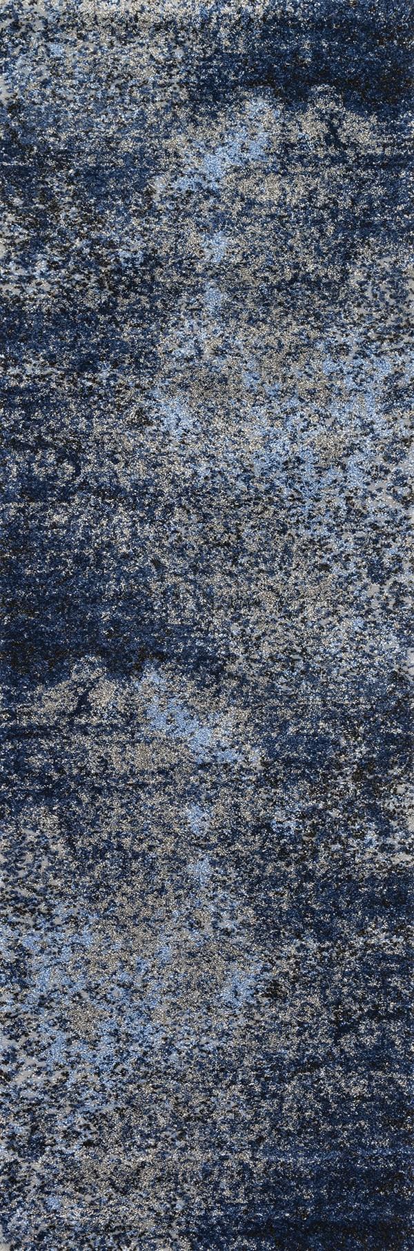 Grey, Navy Vintage / Overdyed Area Rug
