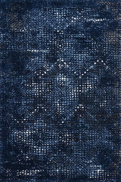 Dark Blue, Light Blue Contemporary / Modern Area Rug