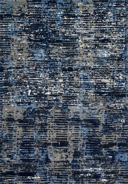 Dark Blue, Grey Contemporary / Modern Area Rug