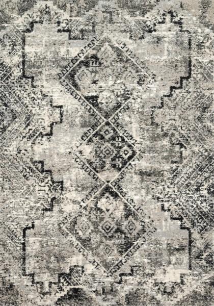 Grey, Black Vintage / Overdyed Area Rug